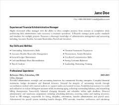 Sample Cv For Office Manager Nadipalmexco