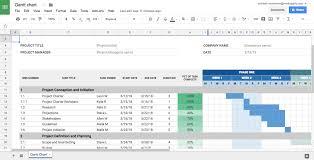 Gantt Chart In Google Spreadsheet Free Create Template