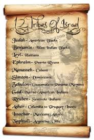 The Israelites Is The 12 Tribes Chart True Or False