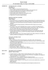 Strategy Advisor Resume Samples Velvet Jobs