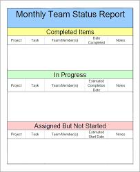 Sample Weekly Status Report Template Weekly Team Status Report Template Under Fontanacountryinn Com