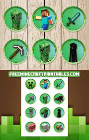 Free Minecraft Printables Free Printable Minecraft Cupcake Toppers