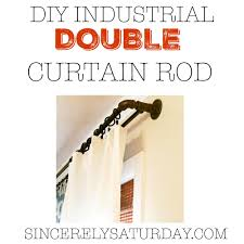 Diy Curtain Rods Diy Industrial Double Conduit Curtain Rod Sincerely Saturday