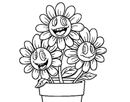 Small Picture Flower pot coloring page Coloringcrewcom