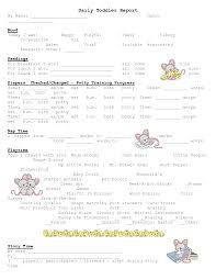 baby daily report sheet infant daily report pdf and free printable daily report sheets