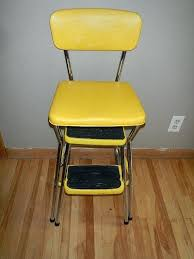 cosco step stool chair reserved for vintage step stool yellow chair utility kitchen cosco step stool