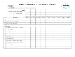 Preventive Maintenance Plan Template
