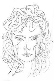 Small Picture Medusa Turned into Stone Coloring Page NetArt