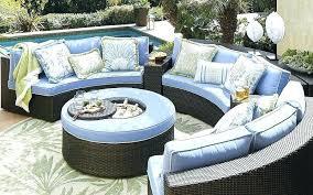 circular outdoor seating arrangement