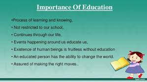 essay on importance of education in life co essay