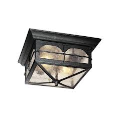 hampton bay 2 light aged iron outdoor flush mount hb7045 292 the home depot