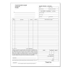 Extra Work Order Template Free Word Excel Forms Document