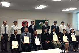 Трехлетняя интенсивная научная работа Арсения в лаборатории  Церемония вручения дипломов phd в Хирошимском университете 20 сентября 2016
