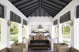 Plantation Design Neoclassical Style Miami Home With Pool Pavilion