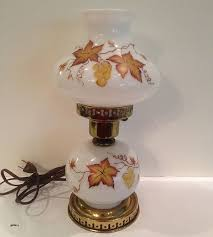 white milk glass hobnail lamp shades elegant table lamp double globe hand painted fall leaves decor vintage