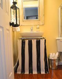 painted pedestal sink skirt shower curtain
