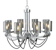 searchlight catalina 8 light ceiling light chrome finish with smoked glass shades 9048 8cc