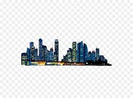 Building Download Vector Tall Buildings Buildings Urban Night Sky
