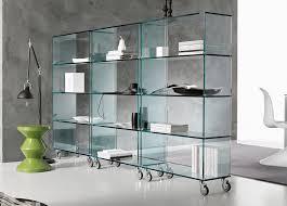 tonelli libreria glass shelving unit