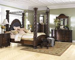Master Bedroom Bed Sets North Shore Poster Canopy Bedroom Set From Ashley B553 Coleman
