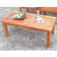 teak rectangular patio garden coffee table
