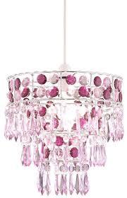 3 tier pink chandelier light shade