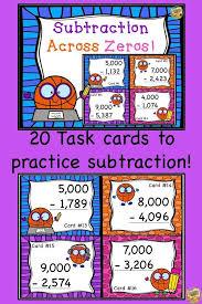 Subtraction Across Zeros Four-Digits! Task cards to practice 3.NBT ...
