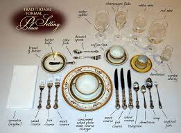 formal table settings. Traditional Formal Place Setting- Generally, You Follow Utensil Placement In Order From The One Table Settings N