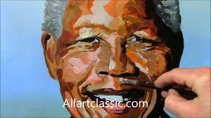 nelson mandela acrylic portrait painting