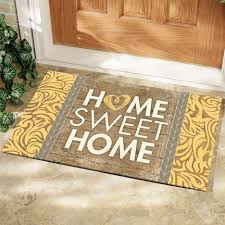 outdoor front door matsFront Porch Front Door Decorating Idea With Single Brown Wooden