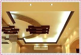 simple ceiling design for living room gypsum designs modern false with two fans