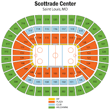 Blues Game Seating Chart Scottrade Center Seating Chart Views And Reviews St