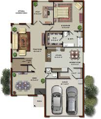 floor plan with furniture. 3d colored house floor plans plan with furniture