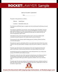 Sample Debt Settlement Agreement Form Template