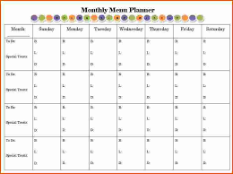 monthly meal planner template monthly planner templates tire driveeasy co