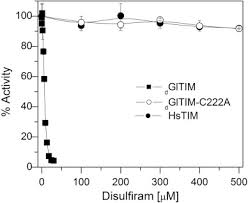 Disulfiram Reaction Disulfiram As A Novel Inactivator Of Giardia Lamblia Triosephosphate