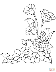 Spring Flowers Coloring Page Free Printable Pages With Viettiinfo