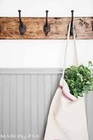 towel hanger ideas. DIY Towel Rack Made From Scrap Wood And Metal Hooks Hanger Ideas