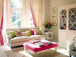 Pretty Living Room with Pink Accent