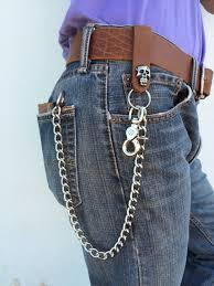 mens window zipper wallet biker wallet 18 chrome chains only key