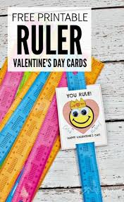 printable ruler for kids. these free printable ruler valentines for children are so cute! i love the silly happy kids
