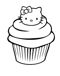 Small Picture The Cupcake Is Garnished With A Head In The Hello Kitty Coloring