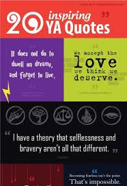 Inspirational Quotes For Young Adults Adorable Infographic] 48 Inspiring Quotes From Young Adult Books Young