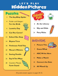 Hidden Pictures for Kids Hidden Pictures Puzzles Lets Play