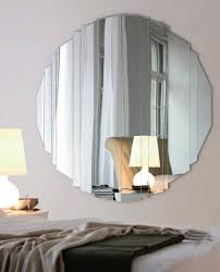 smart ed round mirror wall decor with charming desk lamp for modern interior wall decorating ideas