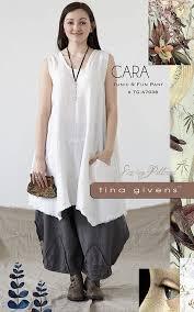 Lagenlook Sewing Patterns Cool Cara Tunic Pants TGA48 Sewing Pattern By Tina Givens Lagenlook