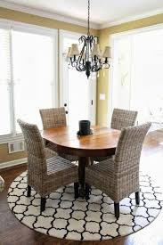 area rug for dining room table 70 round dining tables that can totally transform any kitchen