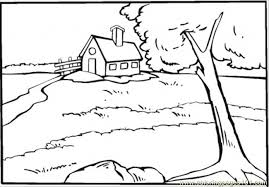 Small Picture Country House Near The River Coloring Page Free Houses Coloring