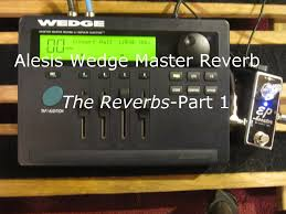 Alesis Wedge Desktop Stereo Reverb With Power Supply