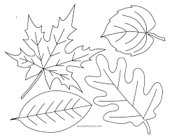 Small Picture Leaves Coloring Page